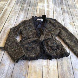 💰Oleg Cassini Wool Blend Tweed Jacket